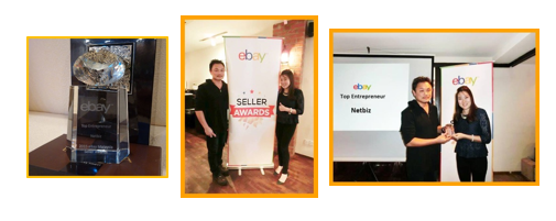 "Honored with ""Top Entrepreneur"" award from eBay"